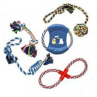 Buy cheap Low price eco friendl Colorfully  cotton rope frisbee doy toy  and pet frisbee from wholesalers