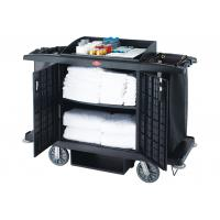 Buy cheap Black / Grey Room Service Equipments / Hotel Room Supplies 2 Shelves Transport Cart from wholesalers