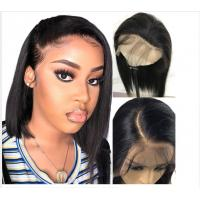 Buy cheap 10 Inch Glueless Straight Full Lace Human Hair Wigs With Baby Hair Short from wholesalers