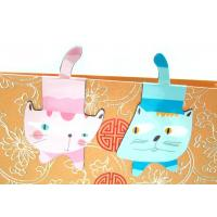 Buy cheap Cat Shaped ChildrensCustom Magnetic Bookmarks with Synthetic Paper , 4C Offset Printing from wholesalers