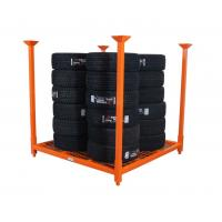 Buy cheap Industrial Warehouse Storage Collapsible Two Level Heavy Duty Metal Tire Storage Rack / Tyre Rack from wholesalers