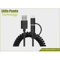 Buy cheap Universal 2in1 Coiled USB Cable Data Cable with 2 Connectors Micro USB Charging Cable for Promotion from wholesalers