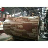 Buy cheap Wood Grain Rolled Steel Coils AISI Standard , Ppgi Mild Steel Coil With Flower Pattern from wholesalers