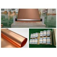 Buy cheap Refined Ultra Thin Copper Sheet, Max 620mm Width BatteryCopper Sheet Roll from wholesalers