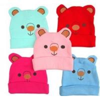 Buy cheap Cute colorful bear pattern cap snow cap sloppy beanie winter warm best gift for kids from wholesalers