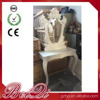 Princess Salon Mirror for Barber Shop Furnture Wood Mirror Table Luxury