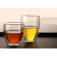 Buy cheap Colored Box Borosilicate Double Layer Glass Cup For Coffee Flower Tea Easy Clean from wholesalers