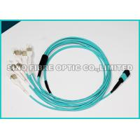 Buy cheap 3.0MM MPO Fiber Optic Cable 12 core OM3 , Aqua MPO TO LC Cable Optical Fiber from wholesalers