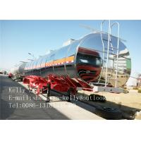 Buy cheap 40000L Stainless Steel Fuel Tanker Fuel Tanker Trailer Customized from wholesalers