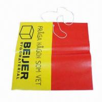 Buy cheap LDPE Warning Flag Bag with Silver Eyelets, Available in Various Colors and Shapes from wholesalers
