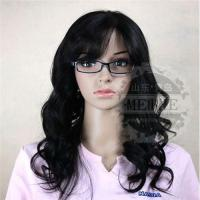 Buy cheap Natural curly Indian hair Color 1B# 20 inch  Human hair women wig from wholesalers