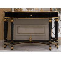 Buy cheap Empire style golden gilt console hallway console table and mirror TO-028 from wholesalers