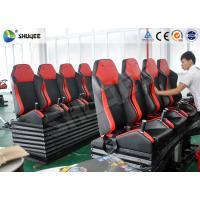Buy cheap Attractive Entertainment Project 6D Cinema Equipment With Red 4 Seats Per Set product