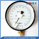 Buy cheap Aluminium Case Precision Air Pressure Gauge / Low Pressure Gauge Bottom Mount from wholesalers