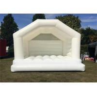 Buy cheap 0.55mm PVC Tarpaulins Blow Up Bounce House / White Wedding Bouncy Castle from wholesalers