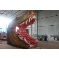 Buy cheap Large Animatronic Dinosaur Head Wall Mounted With Excellent Abrasion Resistance from wholesalers