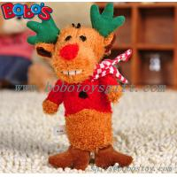 Buy cheap Soft Plush Christmas Deer Animal Pet Toy For dog and Cat from wholesalers