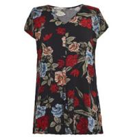 Buy cheap Spring Or Summer Ladies Stylish Blouse , Floral Print Tops For Ladies Slim Size from wholesalers