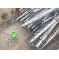 Buy cheap Timber Construction Ground Screw Piles Easy Installation By Spiral Piling Machine from wholesalers