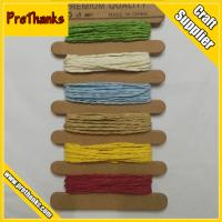 Buy cheap 2MM Colored Twisted Braided Paper String Cord DIY Crafts Paper Carrier Rope from wholesalers
