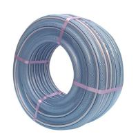 Buy cheap Industrial small diameter 1 inch polyester reinforced pvc fiber flexible plastic drain water clean washer hose pipe from wholesalers