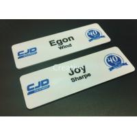 Buy cheap 1.2mm Plastic Name Badges Gloss Finish 1.2mm Thickness Rectangle product