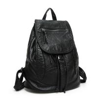 Buy cheap Drawstring Fashion Ladies Backpack Washed Leather With Adjustable Shoulder Strap from wholesalers