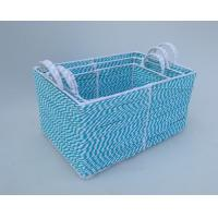 Buy cheap 100% handwoven S/3 rectangle home storage basket with paper material from wholesalers