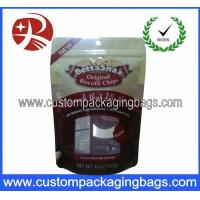 Buy cheap Red Bottom Gusset Stand Up Pouches Resealable For Dried Fruit from wholesalers