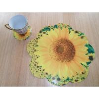 Buy cheap Beautiful Foamed PE Placemat Sets with Yellow Flower Shape from wholesalers