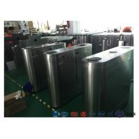 Buy cheap Electric IR Sensor Flap Barrier Gate , Card Swipe Metro Access Control Turnstile product