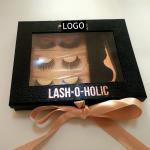 Buy cheap 100% Siberian 3D Mink Lashes Private Label False Eyelash Book Shape Box 3 Pairs Lashes Book from wholesalers