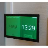 Buy cheap Colorful LED light indicator touch screen android 6 OS POE meeting room tablet glass wall mount from wholesalers