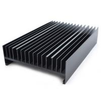 China Powder painted Aluminium Heatsink Extrusions Black With CNC Machining on sale