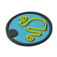 Buy cheap Double color silicone coaster from wholesalers