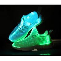11 Rainbow Fiber Optic LED Shoes Light Up Led Sneakers Breathable Fiber Fabric