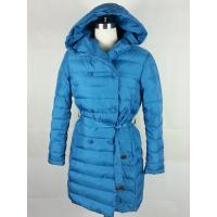 Buy cheap Blue Womens Garment Dyeing Service Warm Fur Hooded  With 100% Taffeta Lining product