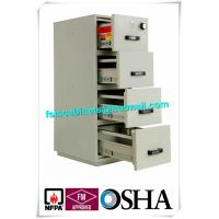 Buy cheap UL Vertical Metal Fire Resistant Filing Cabinets Fireproof 4 Drawers For Storing Documents from wholesalers