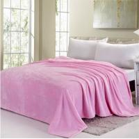 Buy cheap Blue / Pink Colorful Coral Custom Fleece Blankets , Polyester Soft Kids Fleece Blanket from wholesalers