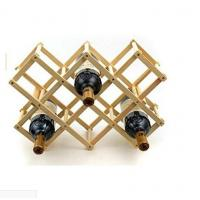 Buy cheap Portable Wooden Foldable Diamond-Shape 8 Bottle Wine Rack Display for Kitchen, Dinning Room, Resting Room from wholesalers
