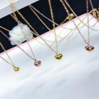 Buy cheap Pure 18K Gold Jewelry , Love Heart Pendant Necklace With Yellow / Rose Color from wholesalers