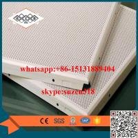 Buy cheap China supplier / manufacturer aluminum round hole perforated metal ceiling from wholesalers