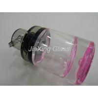 Buy cheap 30ml Pink Glass Lotion Bottle / Lotion Pump Bottle With New Design Caps from wholesalers