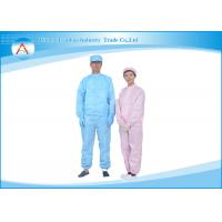 Buy cheap Dust proof Clean Room Garments , Anti Static Lab Coat Washing resistance from wholesalers