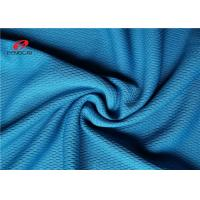 Buy cheap Blue Polyester Shirt Mesh Pique Fabric Silk Jersey Knit Strip Fast Breathable Viscose from wholesalers