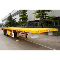 Buy cheap 20ft 40ft Container Carrier Flatbed Semi Trailer 50 Tons 3 Axle from wholesalers