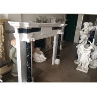 Buy cheap Simple Column Marble Fireplace Surround Natural White Color Elegant Appearance from wholesalers
