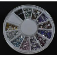 Buy cheap Square-Colors Nail Art Rhinestones Glitters Gems Nail Art Decoration Wheel from wholesalers