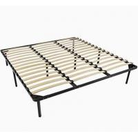Buy cheap Carbon Steel Metal Bed Frame With Slats , Simple Double Mattress Frame Bedstead from wholesalers