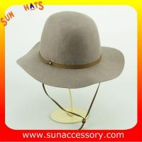 Buy cheap 2047 Sun Accessory Wool felt floppy hats with neck tie ,Shopping online hats and caps wholesaling from wholesalers